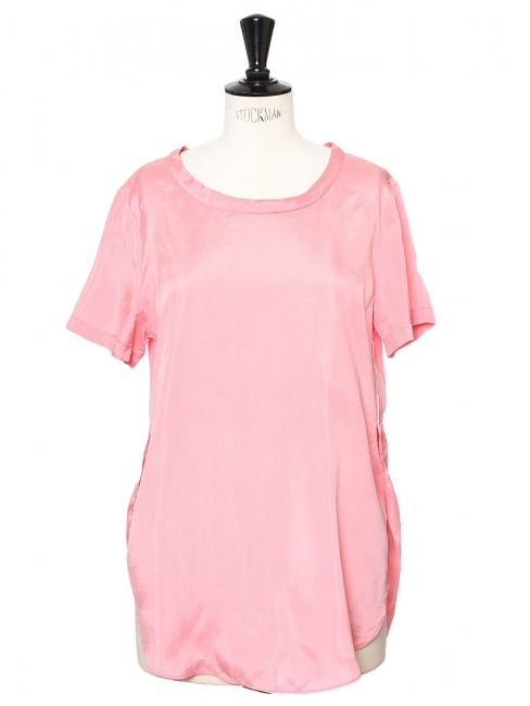 Candy pink silk touch short sleeved t-shirt Size 36