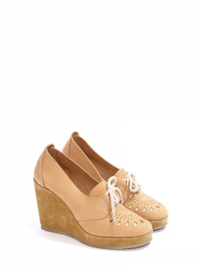 4bfbdfdbe76c A.P.C. · Camel brown cutout leather and suede wedge loafers NEW Retail price  €330 Size 39
