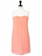 Powder pink draped strapless dress Retail price €270 Size 36