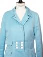 Veste manteau en coton et lin bleu ciel Px boutique 590€ Taille 36/38