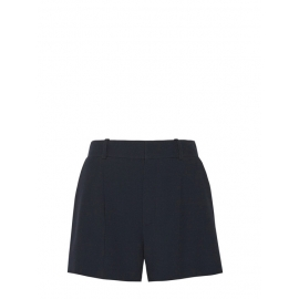 High waist navy blue pleated crepe shorts Retail price €490 Size 38