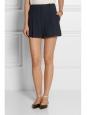 Short taille haute à pinces en crêpe bleu marine Px boutique 490€ Taille 38