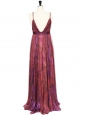 Robe longue Couture en mousseline de soie multicolore Px boutique 4000€ Taille 34/36