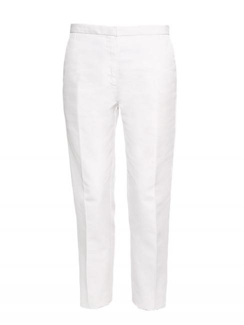 Pantalon droit à pli en coton blanc Prix boutique 500€ Taille 38