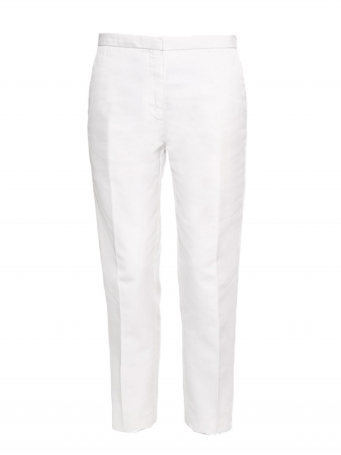 White cotton tapered pants Retail price €500 Size 38