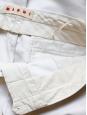 Pantalon droit à pli en coton blanc Px boutique 500€ Taille 38