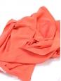 Jupe fluide en crêpe de soie rose pêche Px boutique 500€ Taille 36