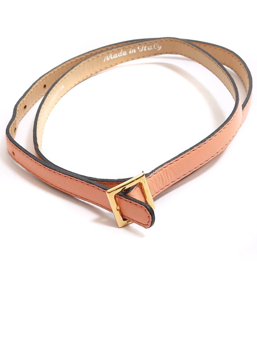 ... Ceinture fine en cuir rose pêche et boucle carrée dorée Px boutique  350€ Taille S ... 87bc7b37132