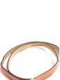 Ceinture fine en cuir rose pêche et boucle carrée dorée Px boutique 350€ Taille S