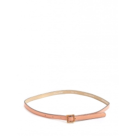 Peach pink leather fine belt with square buckle Retail price €350 Size S