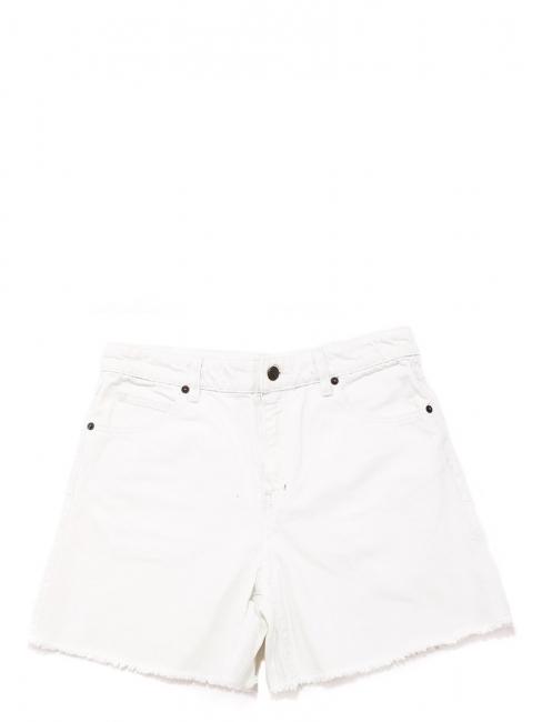 Short taille haute bords effilochés en jean used blanc Prix boutique 150€ Taille 38
