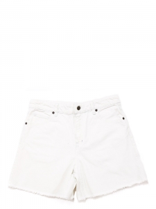 Short taille haute en jean used blanc Px boutique 150€ Taille 38