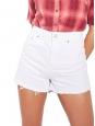 Short taille haute en jean used blanc Px boutique 150€ Taille 38
