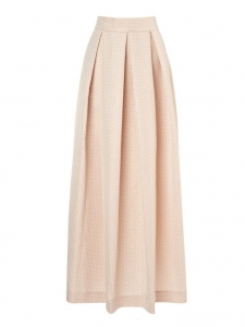 Blush pink and gold scalloped jaquard maxi skirt NEW Retail price €535 Size 36