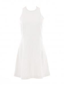 Robe cintrée sans manches col rond blanc crème Px boutique 390€ Taille 36
