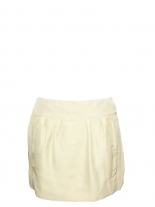 Sand beige wild silk mini skirt Retail price €750 Size 38