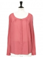 Raspberry pink light wool long sleeves shirt Retail price €650 Size 38