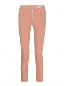 Peach pink mid-rise cropped skinny slim fit jeans Retail price €160 Size 34/36