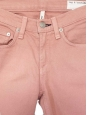 Jean skinny slim fit en coton stretch rose pêche Px boutique 160€ Taille 34/36