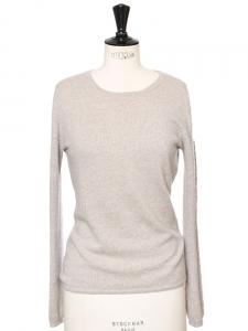 Pull très doux en cachemire de luxe beige sable Px boutique 280€ Taille 36