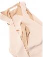 Débardeur iconique en crêpe de soie beige clair Px boutique 390€ Taille 36
