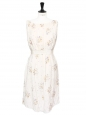Off white silk pleated dress Retail price €2000 Size 38