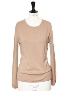 Pull très doux en cachemire de luxe beige Px boutique 280€ Taille 36