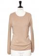Camel beige luxury cashmere sweater Retail price €280 Size S