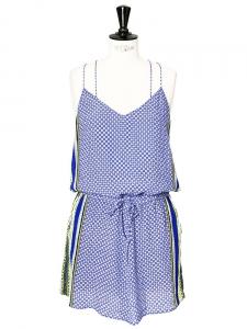 350006eb9b3 Robe bretelles fines dos nageur imprimé ethnique bleu