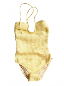 Light yellow one piece open back swimsuit Retail price €280 Size 34 / XS
