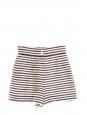 High waist black and white stripes linen shorts Retail price €445 Size 36