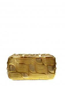 Pochette de soirée clutch en cuir exotique et métal doré Px boutique 500€