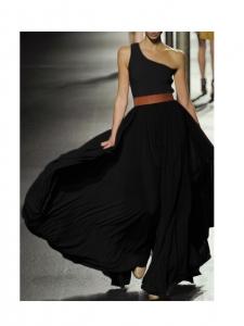 Jupe longue taille haute plissée noire Px boutique 2000€ Taille 36 à 40