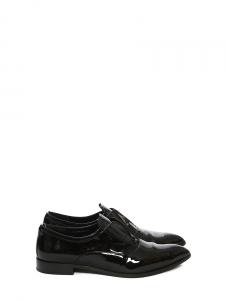 Chaussures plates bout pointu en cuir verni noir Px boutique 550€ Taille 38,5