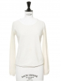 Cream white long sleeves wool sweater Retail price €160 Size XS
