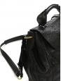 Sac à bandoulière ELSIE large en cuir et python noir Px boutique 2600€