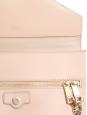 Sac pochette enveloppe CASSIE en cuir lisse et grainé rose poudre NEUF Px boutique 700€