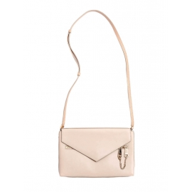Powder pink soft and grained lambskin leather CASSIE envelope shoulder bag NEW Retail price €700