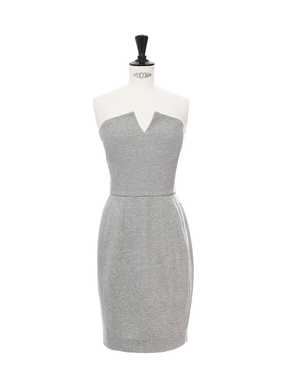 7eaedaacfcb Light grey cotton strapless cocktail dress Retail price €1200 Size XS
