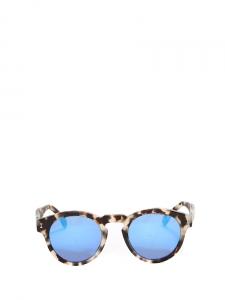 Lunettes de soleil LEONARD monture ronde acétate façon écaille verres miroirs Px boutique 175€