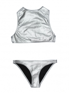Metallic grey OKINAWA and SHIKOKU bikini swimsuit NEW Retail price $385 Size XS