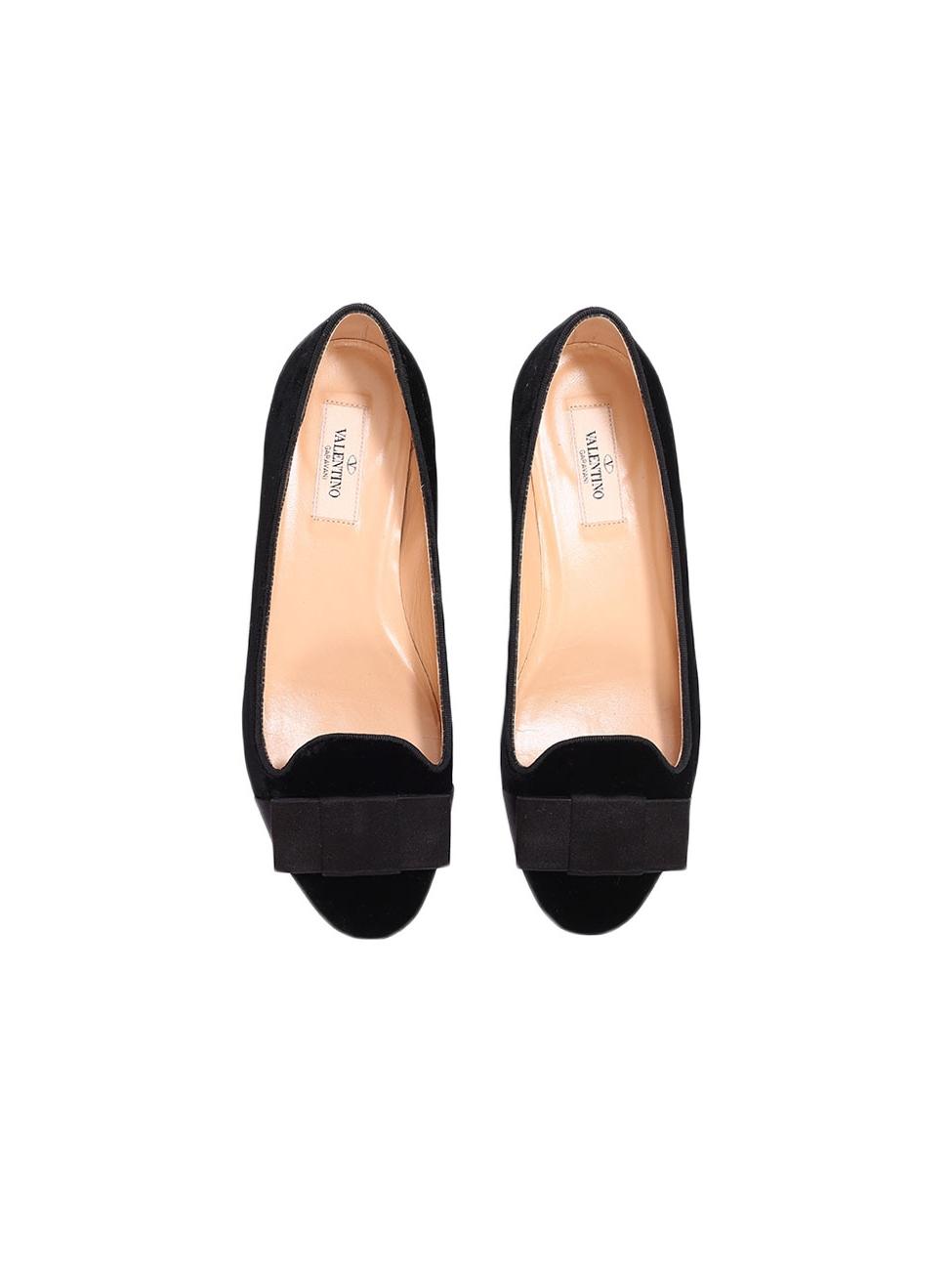 ff61c684a08 Louise Paris - VALENTINO Black velvet tuxedo slippers with satin bow Retail  price €800 NEW Size 38