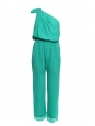 AMELIA Mint green silk one-shoulder jumpsuit Retail price €250 Size 38