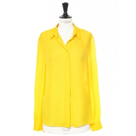 Chemise fluide manches longues jaune or Px boutique 450€ Taille 38