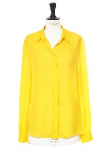 Signature amber yellow silk shirt Retail price €220 Size 38