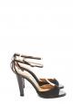 Sandales à talon bride cheville en suède gris anthracite Prix boutique 500€ Taille 36,5