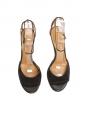 Sandales à talon bride cheville en suède gris anthracite Px boutique 500€ Taille 36,5