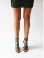 POLLY Empire green braided multi strap leather gladiator sandals Retail price €500 Size 38