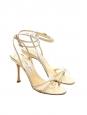 Sandales à talon JULIET en cuir irisé doré Px boutique 450€ Taille 38,5