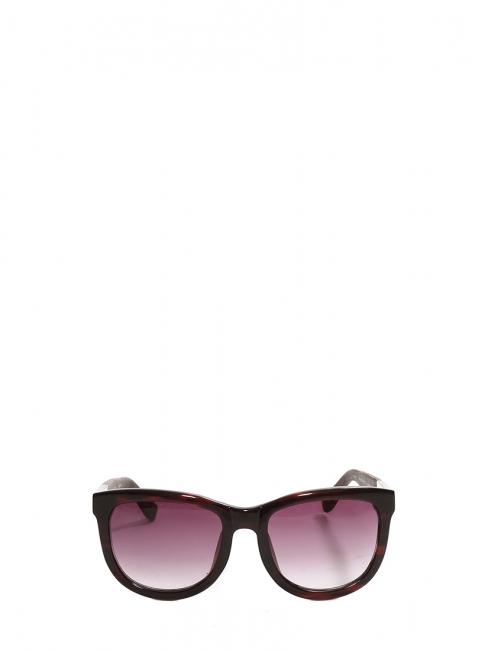 TEMPLE design burgundy acetate and leather oversize sunglasses Retail price €380